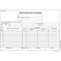 Dispozitie livrare, A5, tipar fata/verso, 100 file/carnet