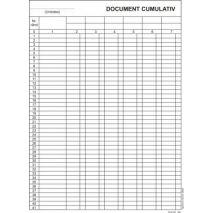 Document cumulativ, vertical, A4, tipar fata, 100 file/carnet