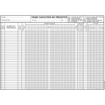 Foaie colectiva de prezenta, A4, tipar fata, 100 file/carnet