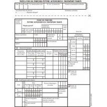 Foaie de parcurs autovehicule marfa, A5, tipar fata/verso, 100 file/carnet
