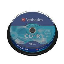 CD-R , 700MB, 52X, 10 buc/bulk, VERBATIM Extra Protection