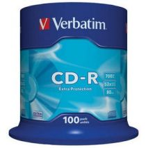 CD-R , 700MB, 52X, 100 buc/bulk, VERBATIM Extra Protection