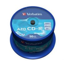 CD-R , 700MB, 52X, 50 buc/bulk, VERBATIM AZO Crystal