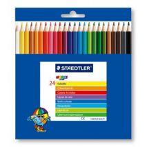 Creioane colorate, 1/1, 24 culori/set, STAEDTLER Noris Club