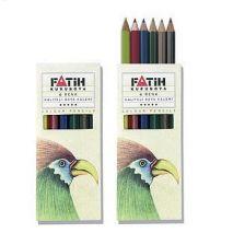 Creioane colorate, 1/2, 6 culori/set, FATIH