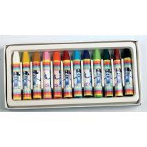 Creioane colorate, cerate, 12 culori/set, PENSAN