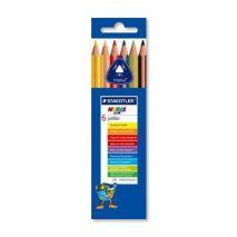Creioane colorate, 1/1, 6 culori/set, STAEDTLER Noris Club Jumbo