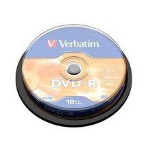 DVD-R , 4.7GB, 16X, 10 buc/bulk, VERBATIM Matt Silver