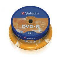 DVD-R , 4.7GB, 16X, 25 buc/bulk, VERBATIM Matt Silver