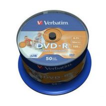 DVD-R , 4.7GB, 16X, 50 buc/bulk, printabil, VERBATIM Wide Photo Printable - no ID