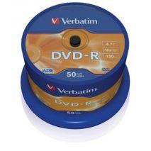 DVD-R , 4.7GB, 16X, 50 buc/bulk, VERBATIM Matt Silver