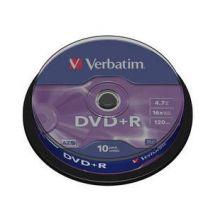 DVD+R , 4.7GB, 16X, 10 buc/bulk, VERBATIM Matt Silver