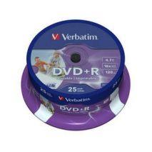 DVD+R , 4.7GB, 16X, 25 buc/bulk, printabil, VERBATIM Wide Photo Printable - ID Branded