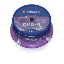 DVD+R , 4.7GB, 16X, 25 buc/bulk, VERBATIM Matt Silver