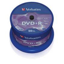 DVD+R , 4.7GB, 16X, 50 buc/bulk, VERBATIM Matt Silver