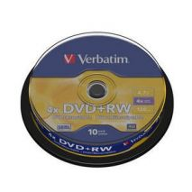 DVD+RW , 4.7GB, 4X, 10 buc/bulk, VERBATIM Matt Silver
