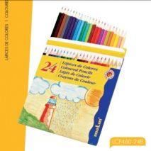 Creioane colorate, 1/1, 24 culori/set, MOLIN Color Plus