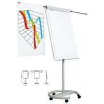 Flipchart magnetic cu brate extensibile si cu rotile, 70 x 105cm, SMIT Vario