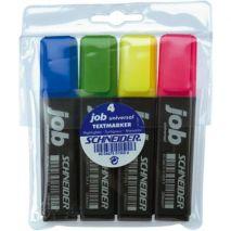 Textmarker 1-5mm, 4 culori/set, SCHNEIDER Job