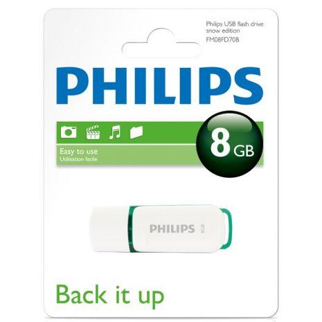 Memory stick USB 2.0 - 8GB PHILIPS Snow edition