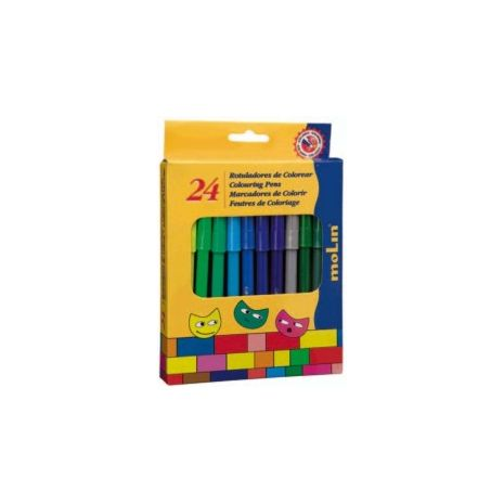 Carioca, 24 culori/set, MOLIN Color Plus