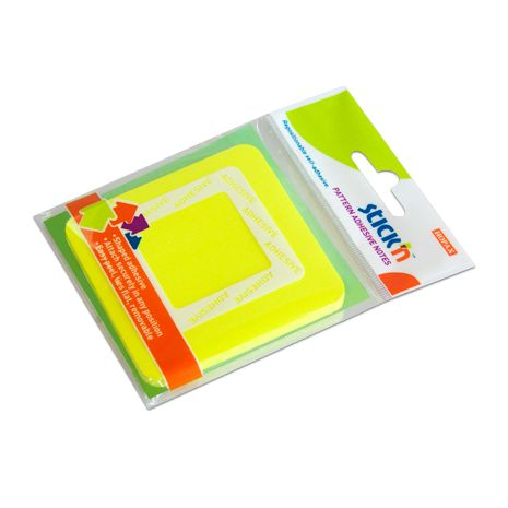 "Notes autoadeziv 360, 70 x 70 mm, 50 file, Stick""n - patrat - galben neon"