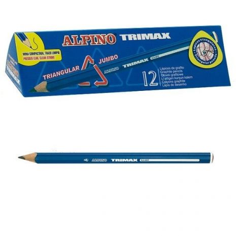 Creion cu corp triunghiular Jumbo, ALPINO Trimax