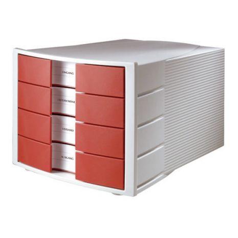Suport plastic cu 4 sertare pentru documente, HAN Impuls