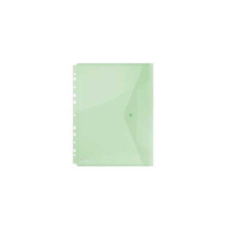 Folie protectie documente A4, inchidere cu capsa, 4/set, 200 microni, DONAU