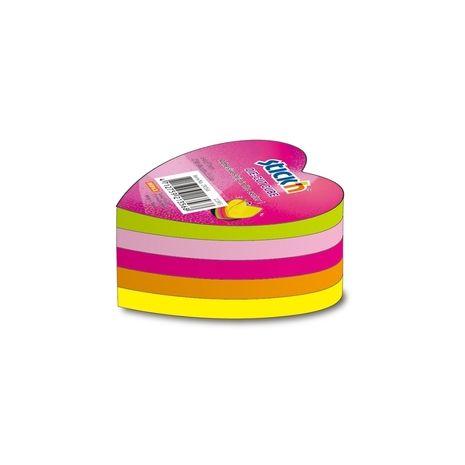 "Notes autoadeziv  cerc,  5 x 50 file/set, Stick""n - 5 culori neon"