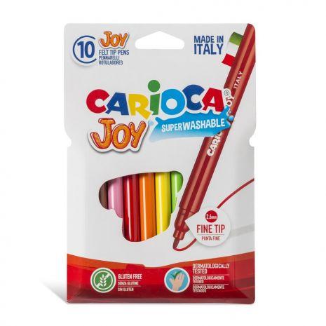Carioca super lavabila, varf subtire 2.6mm, 10 culori/cutie, CARIOCA Joy