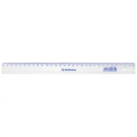 Rigla din plastic transparent, 30cm, DONAU