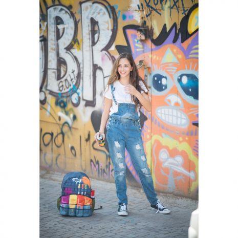 Rucsac ZIP..IT Adventure Graffiti, cu buzunare laterale - EAN 7290106148482