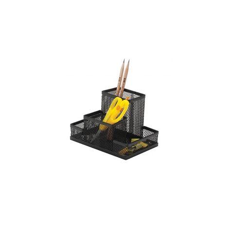 Suport metalic pentru accesorii de birou, 4 compartimente, Mesh