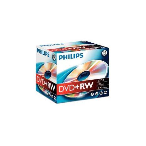 DVD+RW , 4.7GB, 4X, carcasa jewel, PHILIPS