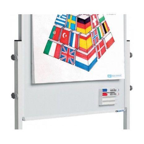 Flipchart COMBI 3 in 1 (whiteboard + flipchart + panou textil)
