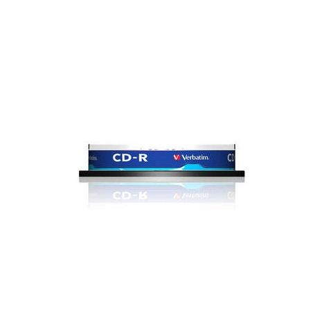 CD-R , 700MB, 52X, 10 buc/bulk, VERBATIM Extra Protection