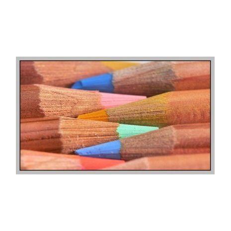 Creioane colorate, 1/1, lemn natur, 24 culori/set, PENSAN