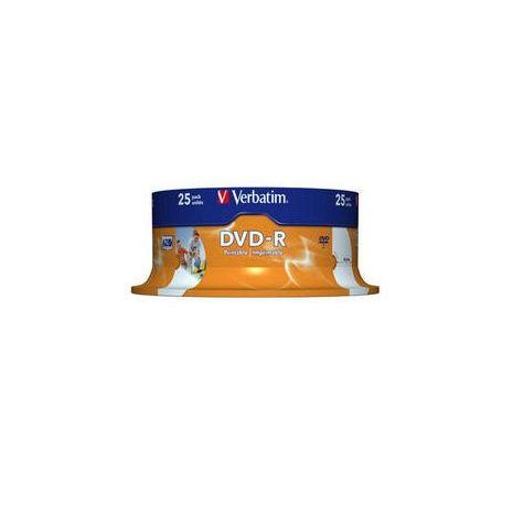 DVD-R , 4.7GB, 16X, 25 buc/bulk, printabil, VERBATIM Wide Photo Printable - ID Branded