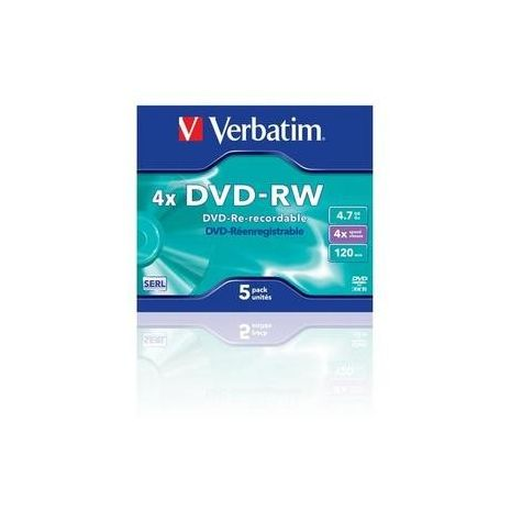 DVD-RW , 4.7GB, 4X, carcasa jewel, VERBATIM Matt Silver
