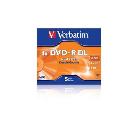 DVD-R , 8.5GB, 4X, carcasa jewel, VERBATIM Dual Layer