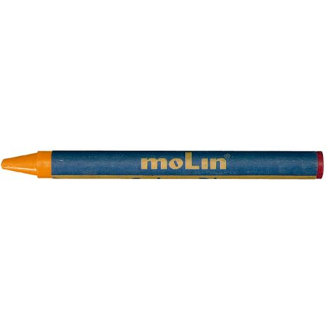 Creioane colorate, cerate, 6 culori/set, MOLIN Color Plus
