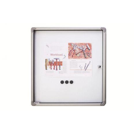 Avizier magnetic de interior, profil aluminiu SP, 6 x A4, 870 x 750 mm la exterior, 790 x 680 mm suprafata de expunere, MAGNETOPLAN
