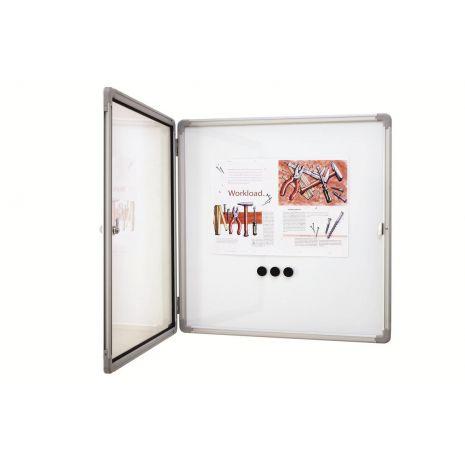 Avizier magnetic de interior, profil aluminiu SP, 12 x A4, 1120 x 1085mm la exterior, 1040 x 1015 mm suprafata de expunere, MAGNETOPLAN