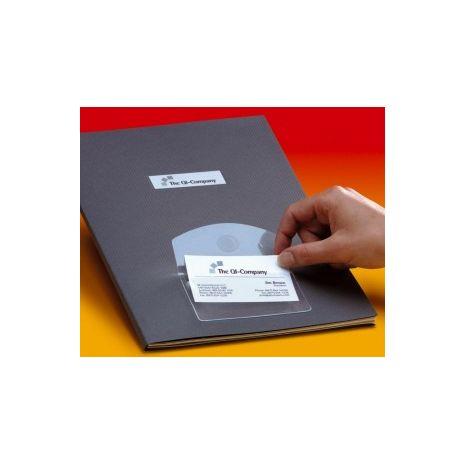 Buzunar autoadeziv pt carti de vizita, acces vertical, 95 x 60mm, 10/set, PROBECO