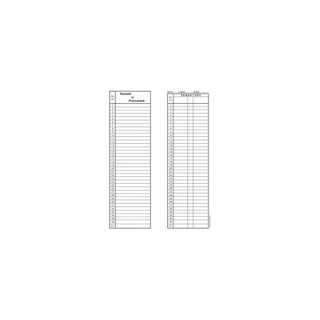 Condica de prezenta, 1/2A4, tipar fata/verso, 50 file/carnet