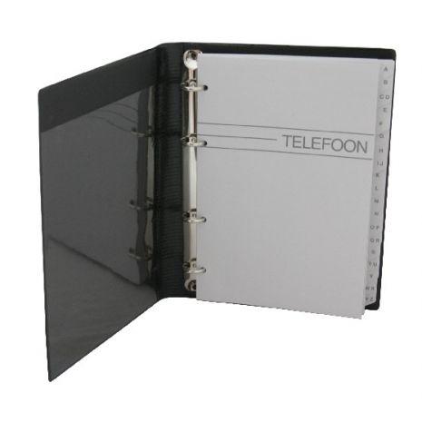 Agenda telefonica cu inele, 220 x 165 mm, cu index, KANGARO - culori asortate