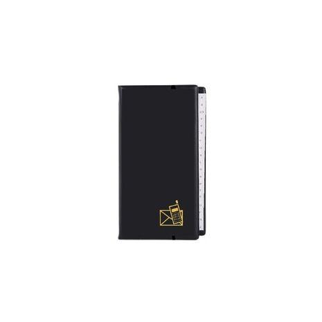 Agenda telefonica cu inele, 217 x 128 mm, cu index, KANGARO - negru