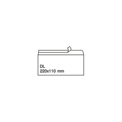 Plic C7, 110 x 220mm, siliconic, alb, 80 g/mp, fara fereastra