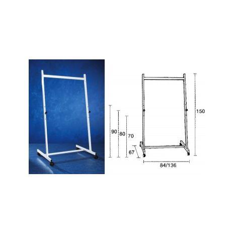 Stand metalic pentru table, 90cm lungime, 150cm inaltime, pe rotile, 3 pozitii fixe, SMIT